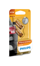Philips Standard 12V 5Watt WY5W Orange 2stk