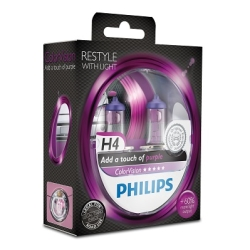 Philips ColorVision H4 Purple 2stk