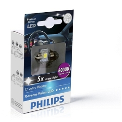 Philips Festoon X-tremeVision LED 6000k 14x30mm