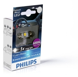 Philips Festoon X-tremeVision LED 38mm 6000K