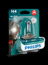 Philips H4 Pære X-tremeVision +130% Moto 1stk