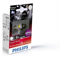 Philips SV8.5 43mm Festoon X-tremeVision 6000K LED
