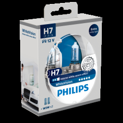 Philips WhiteVision H7 + W5W 2 2 stk