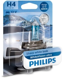 Philips Whitevision Ultra H4 1stk