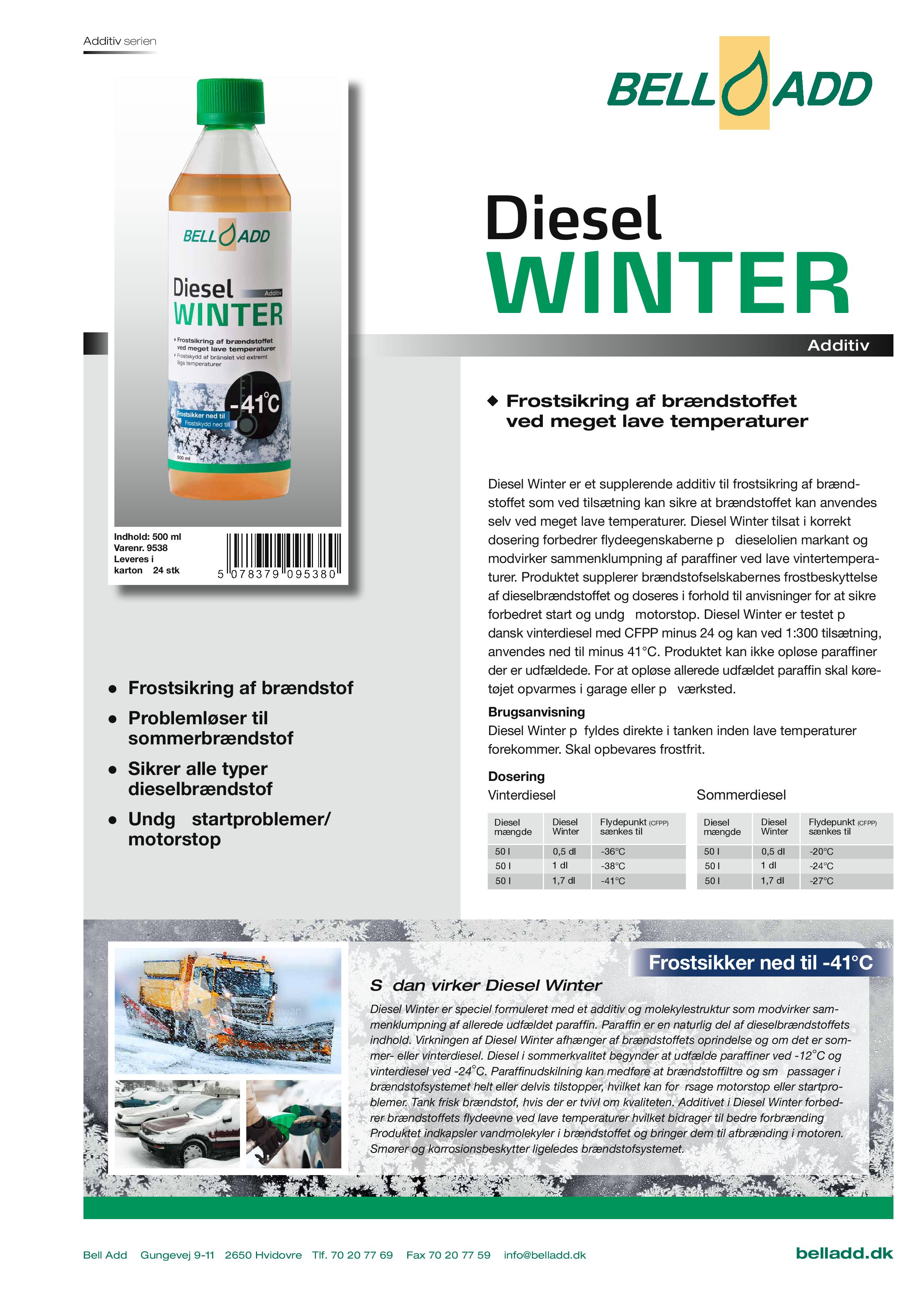 Bell add diesel winter manual